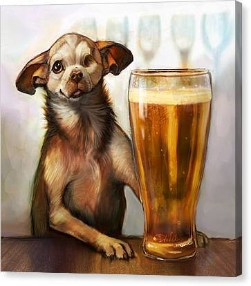 Pint Sized Hero Canvas Print by Sean ODaniels