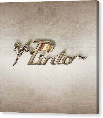 Pinto Car Badge Canvas Print by YoPedro