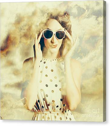 Pinup Fashion Dreams Canvas Print by Jorgo Photography - Wall Art Gallery