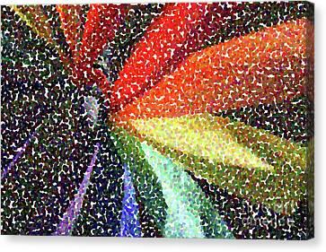 Seurat Canvas Print - Pinwheel Seurat I by Jackie MacNair