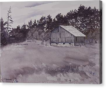 Pioneer Barn Canvas Print by Debbie Homewood
