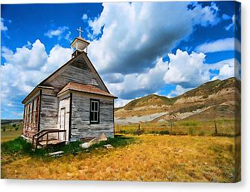 Pioneer Church 1 Canvas Print by Lawrence Christopher