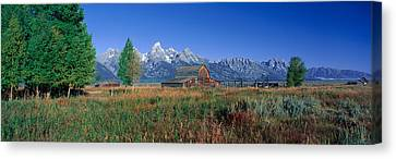 Pioneer Farm, Grand Teton National Canvas Print by Panoramic Images