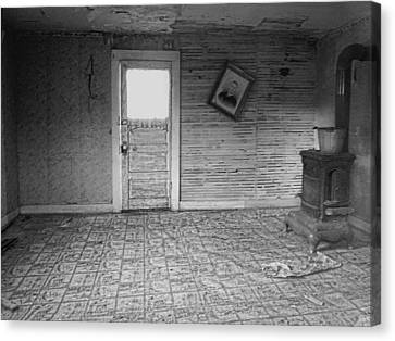 Pioneer Home Interior - Nevada City Ghost Town Montana Canvas Print by Daniel Hagerman