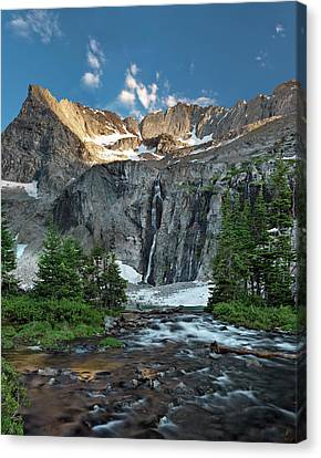 Pioneer Mountains Above Kane Lake Canvas Print by Leland D Howard