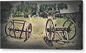 Pioneer Remnants - Pioneer Village  Canvas Print