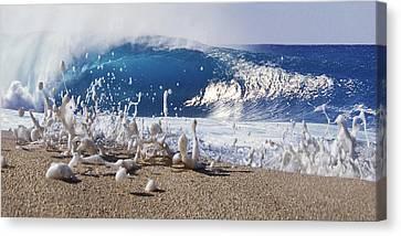 Pipe Foam Canvas Print by Sean Davey