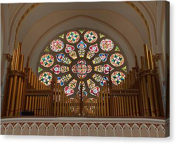 Saint Hope Canvas Print - Pipe Organ - Church by Kim Hojnacki