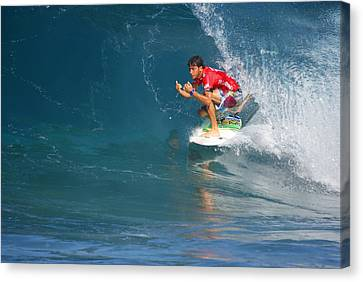 Pipeline Masters Champion Canvas Print by Kevin Smith