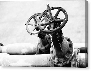 Pipeline Valves Canvas Print by Gaspar Avila