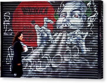 Piper At The Gates Of Portobello Canvas Print by Jez C Self
