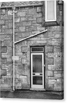 Pipes And Doorway Canvas Print by Christi Kraft