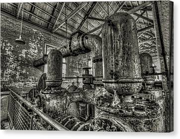 Pipes And Pumps And Pipes Canvas Print