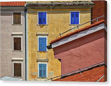 Canvas Print featuring the photograph Piran Colors - Slovenia by Stuart Litoff