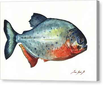 Piranha Fish Canvas Print by Juan Bosco