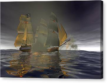 Pirate Attack Canvas Print by Carol and Mike Werner