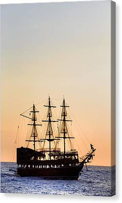 Pirate Boat Canvas Print by Joana Kruse