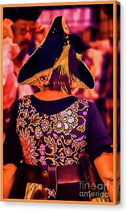 Pirate Embroidery In Watercolor Photo Canvas Print by Doug Berry