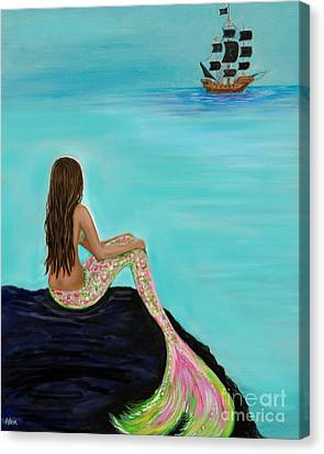 Pirate Farewell Canvas Print by Leslie Allen