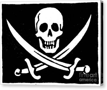 Encbr Canvas Print - Pirate Flag by Granger