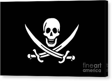 Pirate Flag Jolly Roger Of Calico Jack Rackham Tee Canvas Print