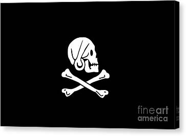 Pirate Flag Of Henry Every Tee Canvas Print by Edward Fielding