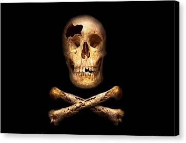 Pirate - Pirate Flag - I'm A Mighty Pirate Canvas Print by Mike Savad