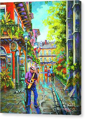 Canvas Print featuring the painting Pirate Sax  by Dianne Parks