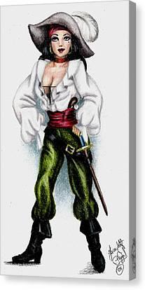 Pirate Canvas Print by Scarlett Royal