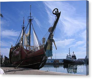 Canvas Print featuring the photograph Pirate Ship - Sousse Harbour by Maciek Froncisz