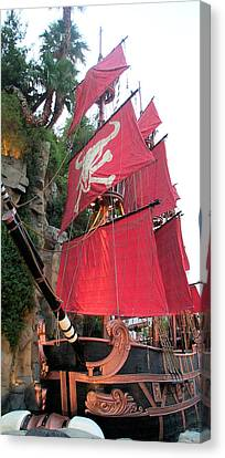 Pirate Ship Canvas Print by Alan Espasandin