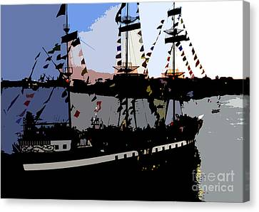 Pirate Ship Canvas Print by David Lee Thompson