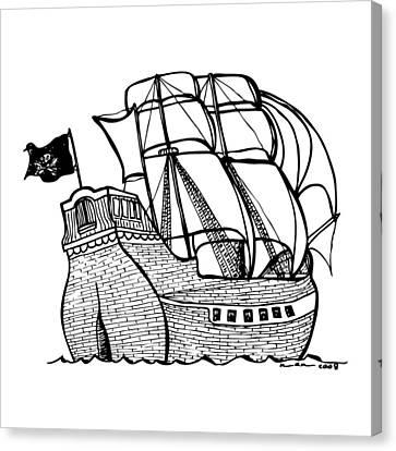 Pirate Ship Canvas Print by Karl Addison