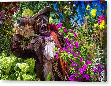 Pouring Wine Canvas Print - Pirate Skeleton Drinking by Garry Gay