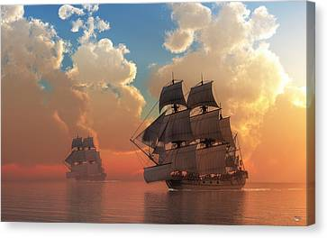 Pirate Sunset Canvas Print by Daniel Eskridge