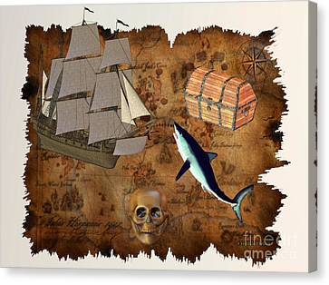 Pirate Treasure Canvas Print