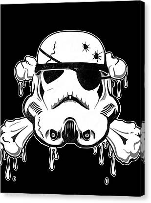 Graffiti Canvas Print - Pirate Trooper by Nicklas Gustafsson