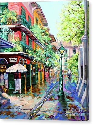 Street Art Canvas Print - Pirates Alley - French Quarter Alley by Dianne Parks