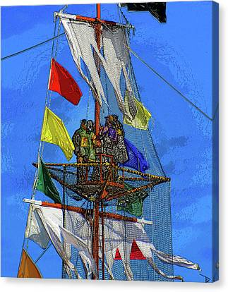 Pirates In The Nest Canvas Print by David Lee Thompson