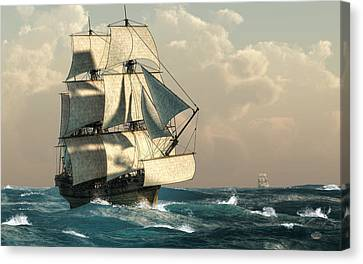 Pirates On The High Seas Canvas Print by Daniel Eskridge