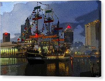 Pirates Plunder Canvas Print by David Lee Thompson