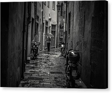 Pisa Back Alley Canvas Print by Chris Fletcher