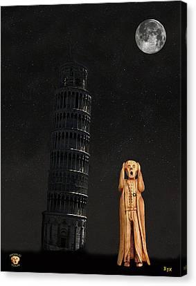 Genoa Canvas Print - Pisa The Scream World Tour  by Eric Kempson