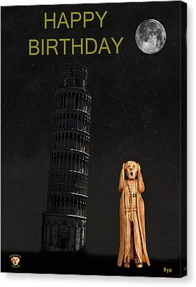 Genoa Canvas Print - Pisa The Scream World Tour Happy Birthday by Eric Kempson