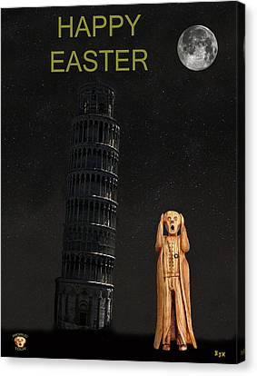 Genoa Canvas Print - Pisa The Scream World Tour Happy Easter by Eric Kempson