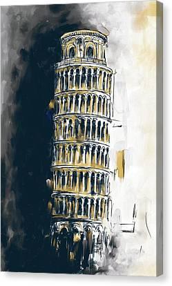 Pisa Tower 567 2 Canvas Print by Mawra Tahreem