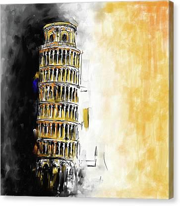 Pisa Tower 567 3 Canvas Print by Mawra Tahreem