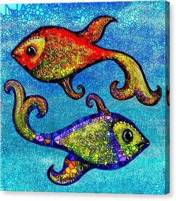 Pisces Canvas Print by Agata Lindquist