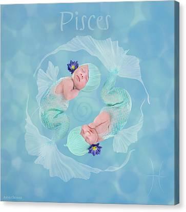 Pisces Canvas Print by Anne Geddes