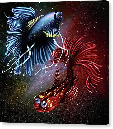 Pisces Dance Canvas Print by Kenal Louis